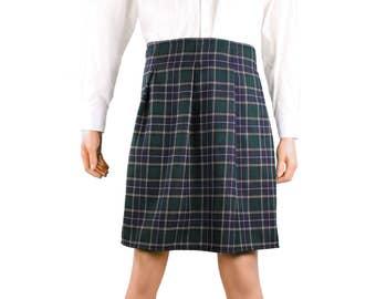 Plaid Black Watch Scottish Kilt Costume Adult Men's - Standard and Plus Size