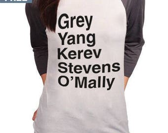 "Greys Anatomy ""Grey Yang Karev Stevens O'Malley"" Thursdays We Watch Greys Anatomy Shirts A Beautiful Day To Save Lives Shirt Baseball Raglan"