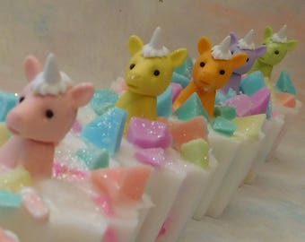 Unicorn Soap - Unicorn Gift - Unicorn Party - Unicorn Party Favor - Unicorn Birthday Party - Magical Party Favor - Novelty Gift - Kids Soap