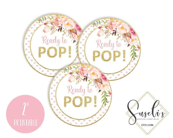 Ready To Pop Tags, Blush Boho Floral Baby Shower Stickers, Avery 22807  Printable Favor Tags Watercolor Floral Baby Girl, DIGITAL FILES from  Suselis on Etsy ...