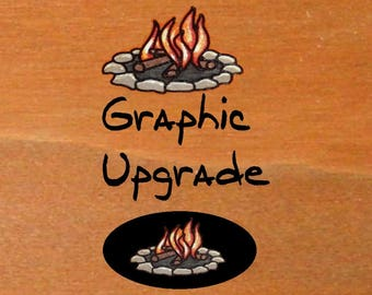 Upgrade graphic to Campfire Oval JG Wood Signs Etsy Custom RV Sign