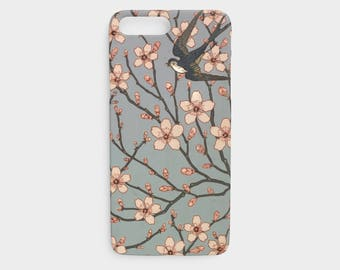iPhone 6 Case - iPhone 5 Case - iPhone 7 case - iPhone 8 case - iPhone x case - cherry blossoms phone case - blossoms and bird phone case