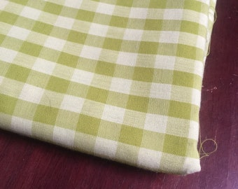 Vintage 70s Gingham Fabric