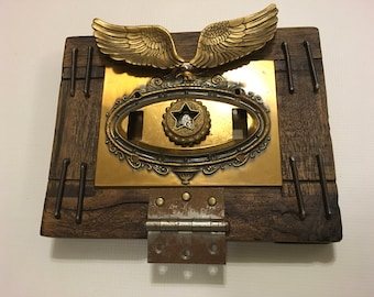Wings of Freedom - Changeable Mixed Media Wall Art, Quality, Recycled, Reused, Found objects
