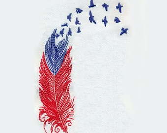 "4.75""T Small Sketchy Feather NO TEXT (  Your wings were ready, but my heart was not ) - Embroidery Design - Instant Digital Download"