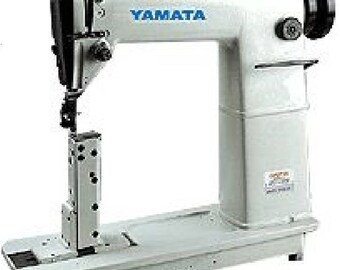 Yamata FY810 Sewing Lockstitch,Reverse,Post Bed,Roller feed + Servo Motor+Table