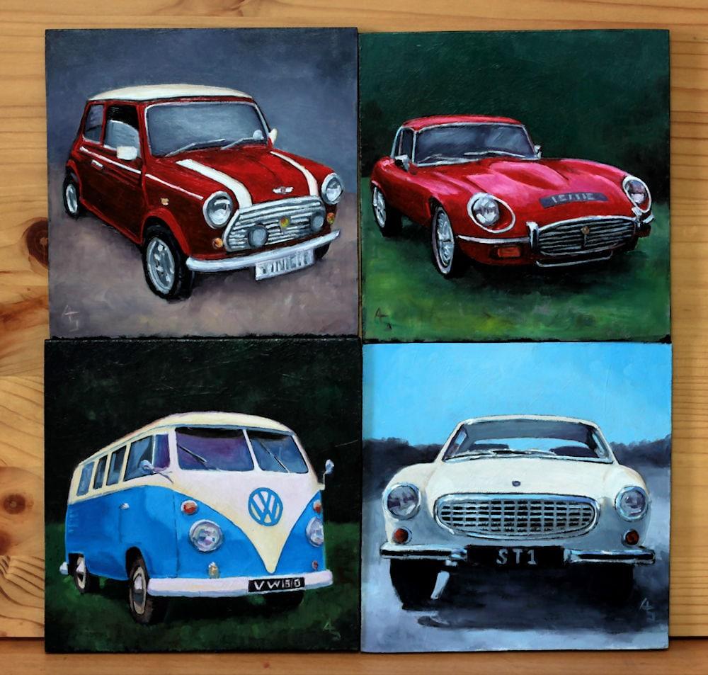 Custom Miniature Painting of your car original oil
