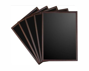 Mahogany Poster Frame with Chalkboard . A1, A2 or A3 sizes available. PT9BA