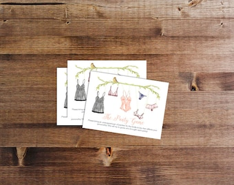 Panty Game Printed Cards | Lingerie Shower Game | Drop Your Panties | Bachelorette Party | Panties, Please | Printed+Shipped