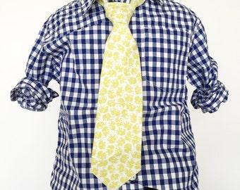 Yellow Elephant Necktie