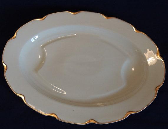 Rare Vintage Haviland Limoges Schleiger 19 / Silver Anniversary Turkey Serving Platter
