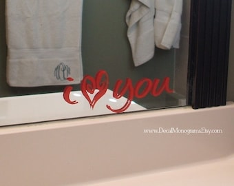 I love you Vinyl Wall Decal