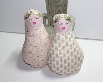 THE MAMA pineapple fabric doll and apricot