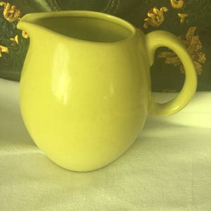 Reduced Vintage Russel Wright Midcentury Pottery Iroquois Lemon Casual  China Water Wine Pitcher