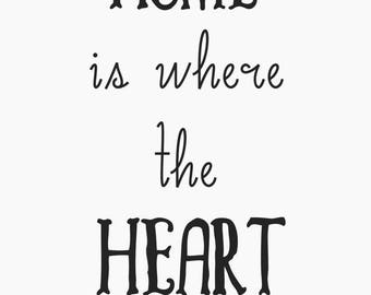 Custom Home is Where the Heart is Poster Design Print Sign