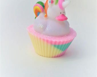Unicorn Rubber Duck Cupcake Soap Party Favors, Unicorn Birthday, Unicorn Soap, Unicorn Party Favors,  Unicorn Gift, Unicorn, Soap Favors