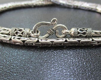 Sterling Silver chain - Tribal Chain For Pendant -Silver Oxidized Chain with anti Tarnish - Chain For Men and Women - PCN03