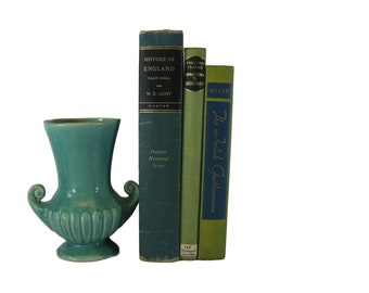 Teal and Green Books for Decorating, Green  Decorative Books, Book Collection, Vintage Books for Shelf Decor
