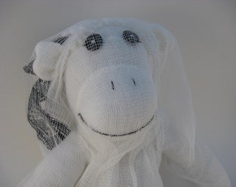 girl sock monkey ghost MADE TO ORDER