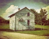 Barn Photography, Rustic Home Decor, Farmhouse Decor, White Barn Print, Barn Landscape, Faded Barn Photo, Canvas Wrap or Print