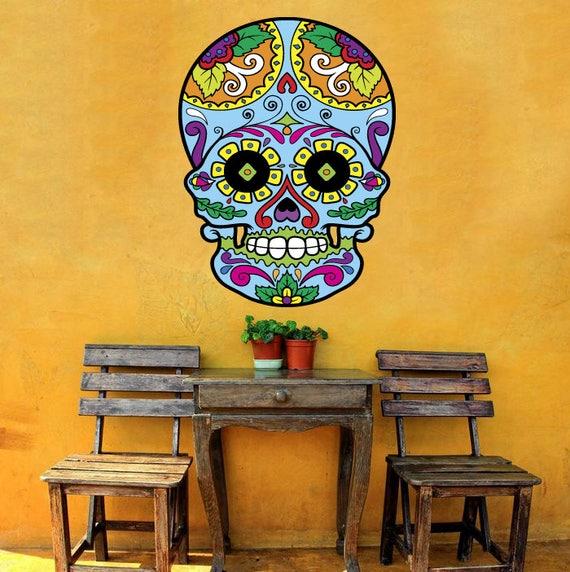 Sugar Skull Decal Sugar Skull Sticker Sugar Skull Wall