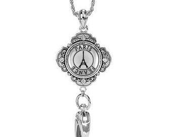 Lanyard ID Holder Paris France - Travel Lanyard ID Holder Necklace - Keychain - ID Lanyard - Badge Lanyard - Badge Holder - Id Holder