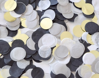 Black, Grey & Gold Confetti Mix
