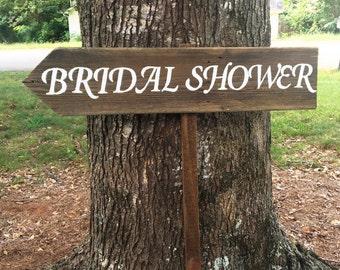 Bridal Shower Sign, Rustic Bridal Shower, Wooden Wedding Signs, Wedding Arrow Sign, Custom Wedding Signs, Barn Wood Signs, Wooden Arrows