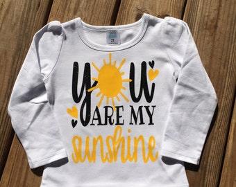You are my sunshine heat press vinyl shirt