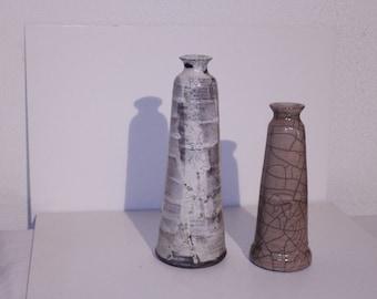 Soliflor raku ceramic (left)