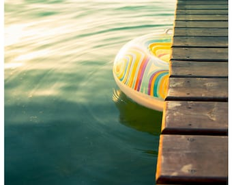 Summer, Beach Photography, Coastal, Lake, Home Decor, Wall Art, Teal, Brights, Pastels, Cottage, Fine Art Print