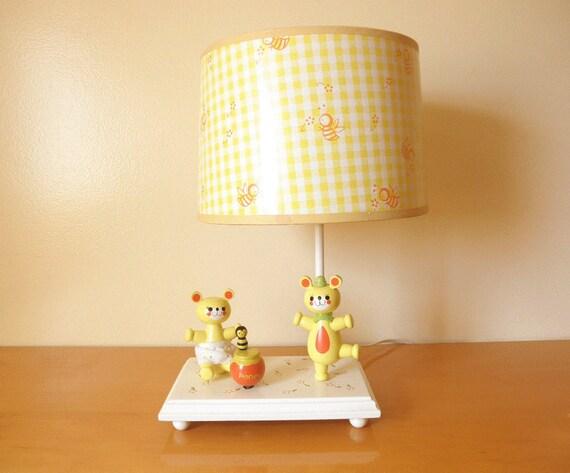 Vintage 70u0027s Musical Bear Lamp Judiu0027s