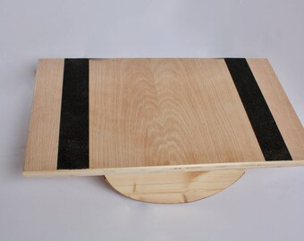 Handmade Wooden Balance Board / Wobble Board / Physiotherapy Board