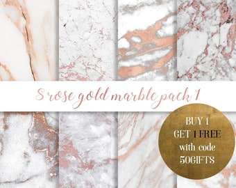Rose gold marble digital paper, Rose gold marble paper, rose gold glitter, gold marble, Rose marble, Copper marble, commercial use