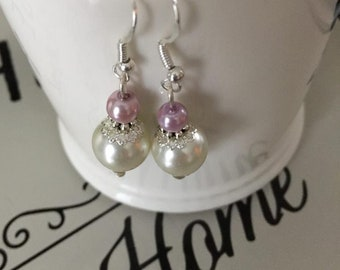 Faux Pearl Wedding Any Occasion Earrings