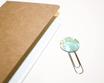 Marque pages 25mm Liberty Betsy Turquoise