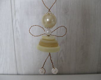 hanging Angel decoration buttons and beads