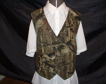 Camouflage vest / Camo Vest for Wedding / Prom / Special Event in 8 different Camo materials available