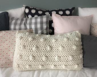 Bobble Throw Pillow | Custom Handmade Crochet Pillow
