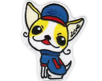 ICONA Embroidery Sticker Patch - Chihuahua - Baseball