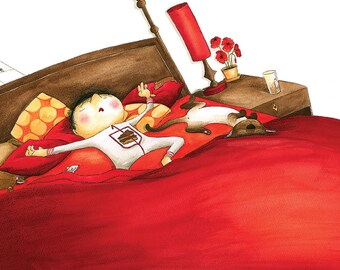 Den Schlaf der kleinen Ritter - original-ILLUSTRATION