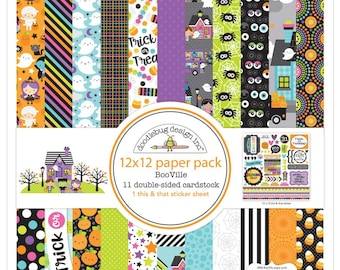 """BooVille Doodlebug Double-Sided Paper Pad 12""""X12"""" (5800)"""
