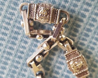 Heavy sterling bracelet - Vintage Estate Jewelry