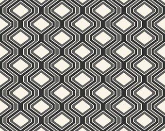Riley Blake Geo Diamond Black Fabric, 1 yard