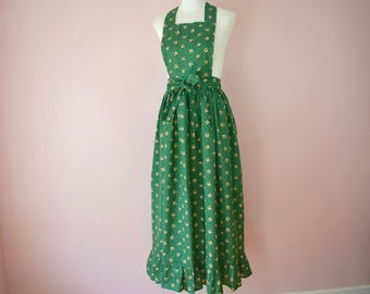 Christmas Holidays Pinafore Apron or Wrap Skirt. Green with Bells. US Size Small Medium Large XL 1X 2X 3X - VDS214