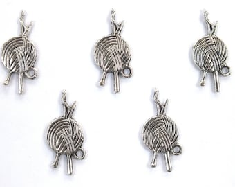 LOT 5 METALS CHARMS Silver: yarn 25mm