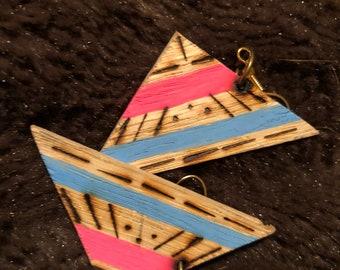 Aztec triangle earrings