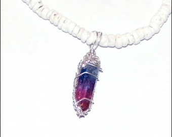 Wrapped in Silver - Hybrid Rose Aura crystal - Choker