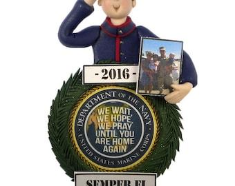 Military Marine Deployment Ornament
