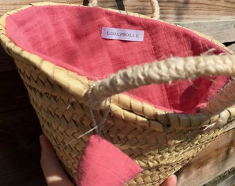 Basket lined in cloth diaper